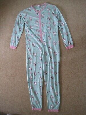Girls green unicorn all in one sleepsuit from George Asda age 14-15