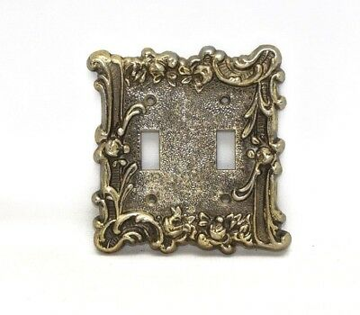 Vintage Ornate Tack Roses Double Light Switch Plate