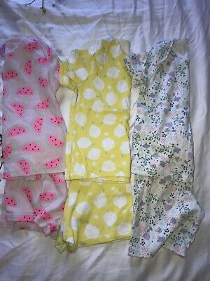 Girls Pyjamas, X3 Shorts And Tshirts 2-3 Years