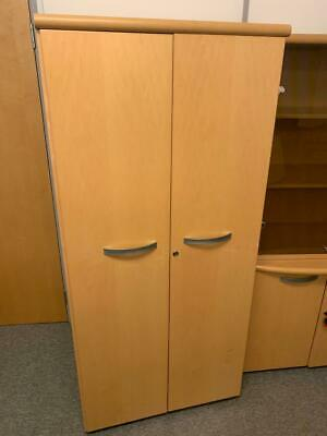 Office Cupboard, Hanging Rail, Maple Effect, Wooden, Office, Home