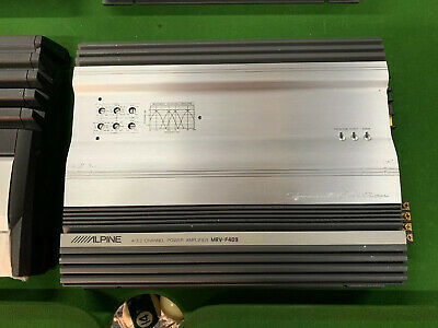 Alpine MRV-F409 Special Edition F1 Status Amplifier! 4 Channel Audiophile