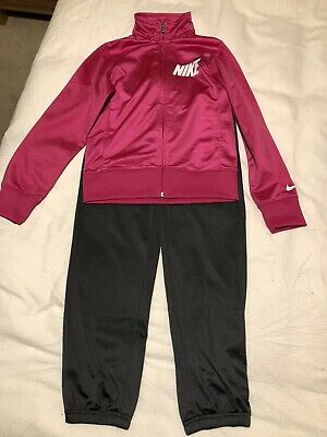 Nike Girls Pink And Grey Tracksuit Size M Age 10-12