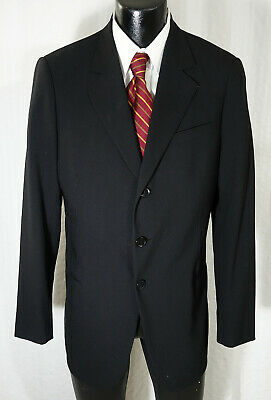 Giorgio Armani Black Label Suit/Sport Coat 42R Pure Black