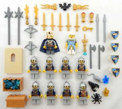 10 LEGO CASTLE KNIGHT MINIFIG LOT figures people king dragon minifigures queen