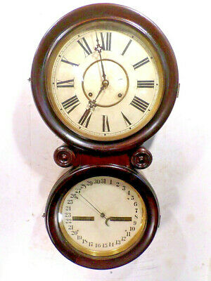 1885 London Clock Company 'Olympia' Model Figure Eight Double Dial Wall Clock