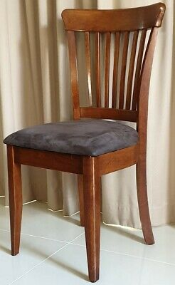 18 quality Dining Chairs solid timber with Velveteen fabric seat
