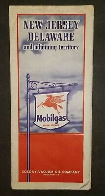 Vintage New Jersey Delaware And Adjoining Territory Map Mobilgas