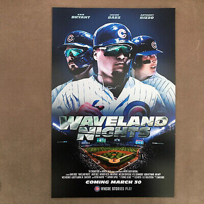 Chicago Cubs Poster Waveland Nights Baez Bryant Rizzo 2020 Cubs Convention 11x17