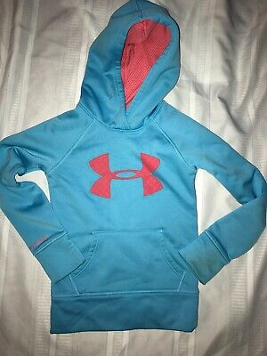 Under Armour Hoodie Storm Girls Youth Extra Large Pink and Blue YXL