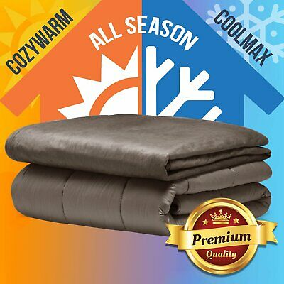 Premium Cool Summer Weighted Blanket Adults 7/9KG Deep Relax Sleep Heavy Gravity