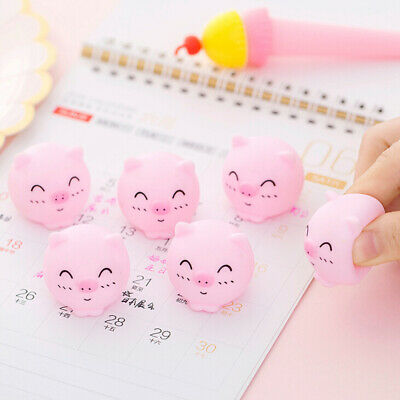 2Pcs Mini cute pig toy vinyl squeeze sound animals squeeze toys for kids gif TS