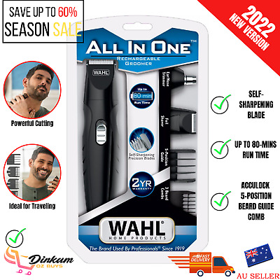 WAHL Beard Hair Clipper Shaver Trimmer Nose Ear Mens Grooming Cordless Electric