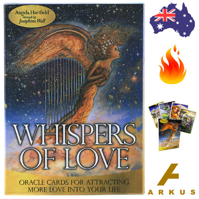 WHISPERS OF LOVE Oracle Cards - 50 Card Deck by Angela Hartfield NEW