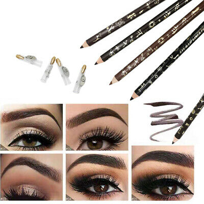 Waterproof Make Up Leopard Longlasting Brown Eyeliner Eyebrow Pencil With Brush+