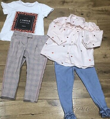 Girls River Island & Next Tops & Trousers Bundle Age 3-4 Years - Rrp £45 -
