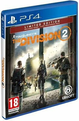 Ps4 Playstation 4 Tom Clancy's The Division 2 Dvd + Dlc Primo Soccorritore Nuovo