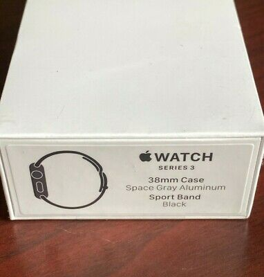 Apple Watch Series 3 38mm (GPS Only) Space Gray Aluminum Black Sport Band Sealed