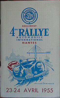 29 . Rallye : Nantes : 1955 .Reglement : 48 Pages + Additifs. Format 13,5 X 22