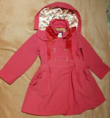 Ted Baker Girls 4-5 Years Pink Coat Jacket