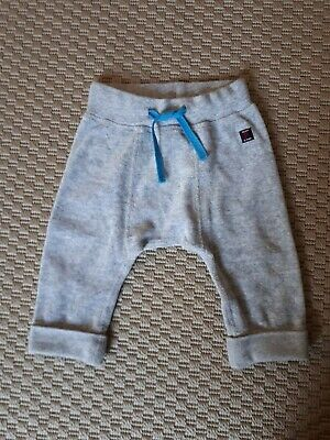 Polarn O Pyret Baby Boys Grey Velour Joggers Trousers organic cotton 4-6 Months