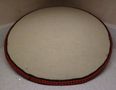 Vintage Straw Filled Lace Pillow + Cover in Good Condition