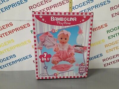 Bambolina Playtime Baby Doll and Accessories Drinks and Wets Feeding Set NEW