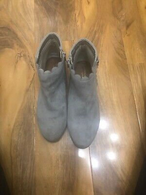 Monsoon Children Silver Boots Uk Sz 4 Great Condition
