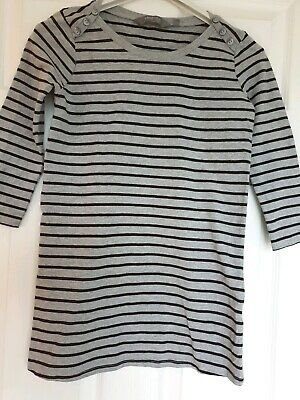 Excellent Condition New Look Grey Black Stripe Maternity Top Size 10