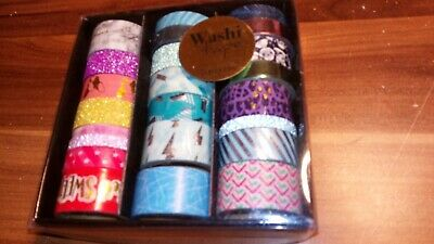 Box Of Washi Tapes X 23 Rolls lovely Designs