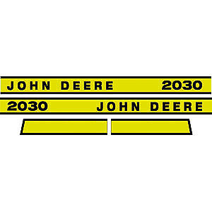 JD2030E Hood Decal Set fits John Deere Tractor Early Model 2030
