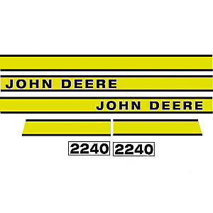 JD2240E Hood Decal fits John Deere Tractor 2240 Early Model