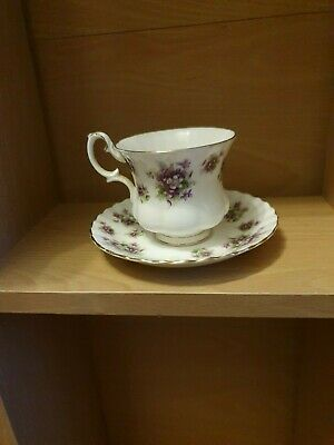 Royal albert bone china small cup and saucer sweet vioets