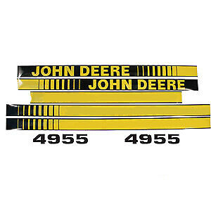 Hodd Decal Set fits John Deere Tractor JD4955 4955