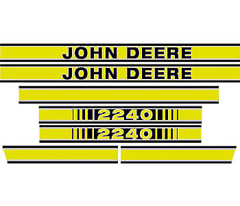 Hood Decal Set fits John Deere Tractor Model 2240