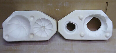 "Ceramic Mold 4"" Pumpkin with Etched Face  Scioto 378 used mold"