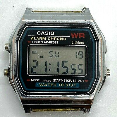 1986 VINTAGE CASIO A155W Digital Watch Model 587. Lithium  2QfPS
