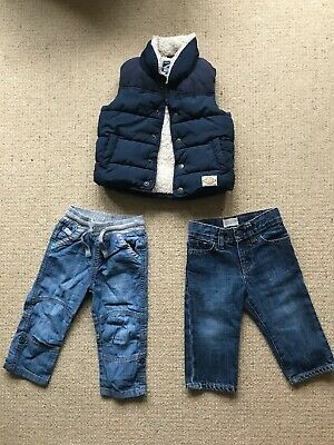 Next baby boys gillet body warmer Navy Blue & 2 Jeans Baby Gap Age 12-18 months