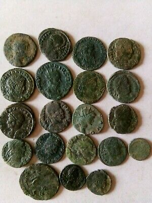 012.Lot of 20 Ancient Roman Bronze Coins,Uncleaned