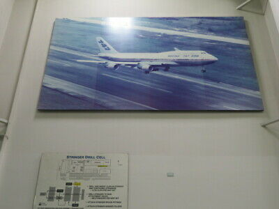 Large Picture of Boeing 747 Located in Aerospace Plant Approx. 15' W X 8' H