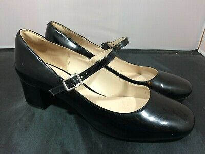 Ladies Clarks Narrative Black Patent Leather Mary Jane Heels Size UK 7 D #FC2-CF