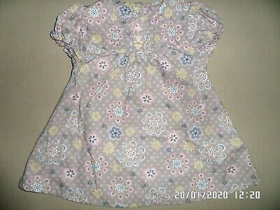 Tu Baby Girls Short Sleeve Floral Dress 9-12 Months Excellent Condition