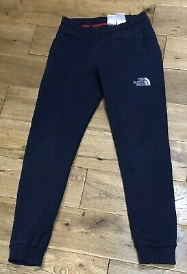 Boys The North Face Logo Joggers In Navy Blue Size M Approx Age 13-14 Years