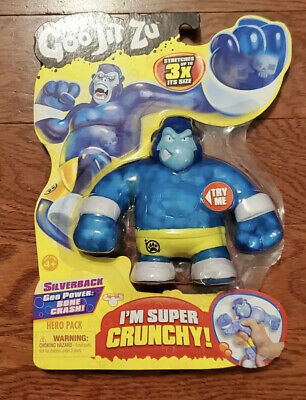 Heroes of Goo Jit Zu - Silverback, Crunchy Gorilla Action Figure, New