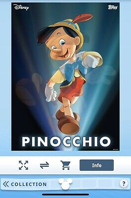 Disney Collect! By Topps! DIGITAL Enchanted Transformations Pinocchio