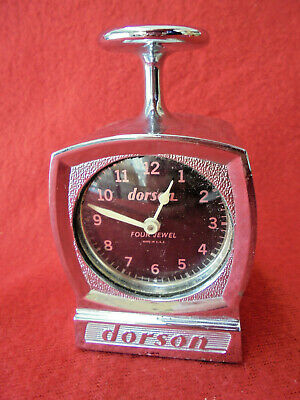 Vintage Dorson 4 Jewel Hand Rubber Stamp Date/Time With Mechanical Wind Clock