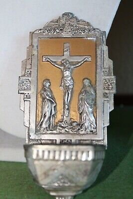 Antique Vintage French Antique Neo Gothic Wall Holy Water Font