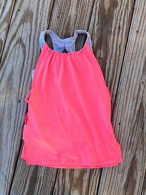 Ivivva by lululemon girls size 6 sports top with built in bra