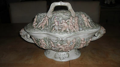 Rare & Unique Vintage Ceramic Glazed Art Bowl With Lid~G. Danner '69