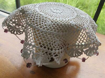 Vintage Hand Crocheted/Beaded Milk JUG COVER