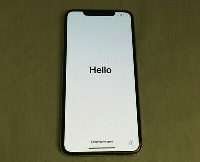 Apple iPhone XS Max - 64GB - Silver (Sprint) Cracked Works Bad ESN IC Locked